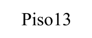 mark for PISO13, trademark #85716456
