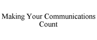 mark for MAKING YOUR COMMUNICATIONS COUNT, trademark #85717026