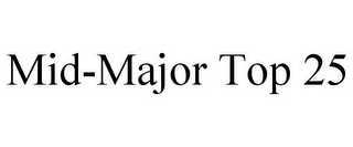 mark for MID-MAJOR TOP 25, trademark #85717411