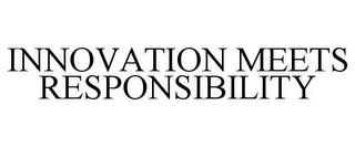mark for INNOVATION MEETS RESPONSIBILITY, trademark #85717539