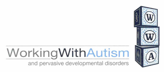 mark for WORKING WITH AUTISM AND PERVASIVE DEVELOPMENTAL DISORDERS WWA, trademark #85717657