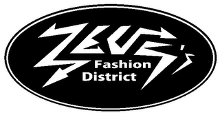 mark for ZEUS'S FASHION DISTRICT, trademark #85717676