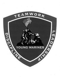 mark for YOUNG MARINES TEAMWORK DISCIPLINE LEADERSHIP, trademark #85717925