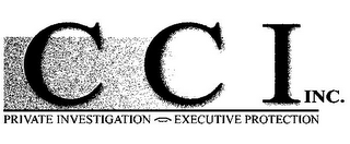 mark for C C I INC. PRIVATE INVESTIGATION EXECUTIVE PROTECTION, trademark #85718181
