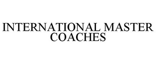 mark for INTERNATIONAL MASTER COACHES, trademark #85718958