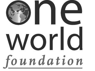 mark for ONE WORLD FOUNDATION, trademark #85719024