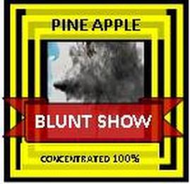 mark for PINE APPLE BLUNT SHOW CONCENTRATED 100%, trademark #85719708