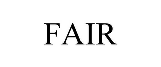 mark for FAIR, trademark #85719938