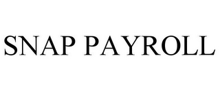 mark for SNAP PAYROLL, trademark #85720195