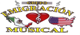 mark for GRUPO EMIGRACIÒN MUSICAL, trademark #85720198