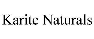 mark for KARITE NATURALS, trademark #85720424