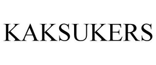 mark for KAKSUKERS, trademark #85720743
