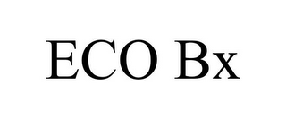 mark for ECO BX, trademark #85721162