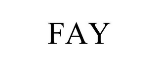 mark for FAY, trademark #85721283