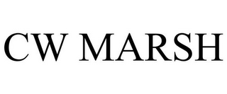 mark for CW MARSH, trademark #85721530