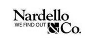 mark for NARDELLO & CO. WE FIND OUT, trademark #85722084