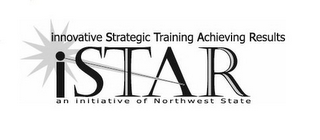 mark for INNOVATIVE STRATEGIC TRAINING ACHIEVING RESULTS ISTAR AN INITIATIVE OF NORTHWEST STATE, trademark #85722088