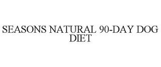 mark for SEASONS NATURAL 90-DAY DOG DIET, trademark #85722258
