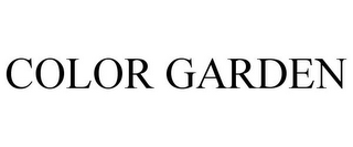 mark for COLOR GARDEN, trademark #85722313