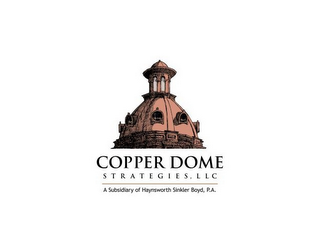 mark for COPPER DOME STRATEGIES, LLC A SUBSIDIARY OF HAYNSWORTH SINKLER BOYD, P.A., trademark #85722988