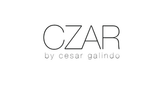 mark for CZAR BY CESAR GALINDO, trademark #85723043