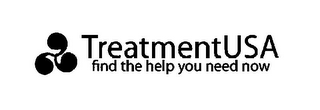 mark for TREATMENTUSA FIND THE HELP YOU NEED NOW, trademark #85723047