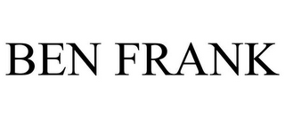 mark for BEN FRANK, trademark #85723832