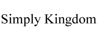 mark for SIMPLY KINGDOM, trademark #85723999