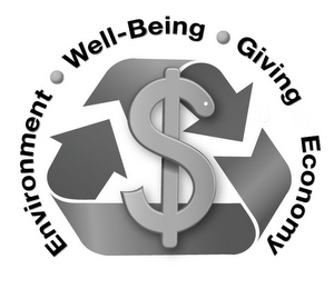 mark for ENVIRONMENT · WELL-BEING · GIVING · ECONOMY, trademark #85724057