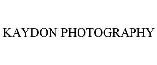 mark for KAYDON PHOTOGRAPHY, trademark #85724102