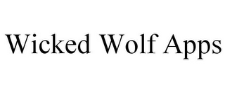mark for WICKED WOLF APPS, trademark #85724137