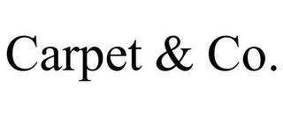 mark for CARPET & CO., trademark #85724318