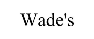 mark for WADE'S, trademark #85725310