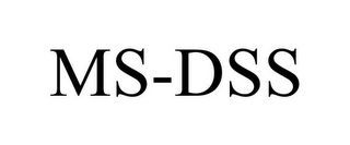 mark for MS-DSS, trademark #85725494