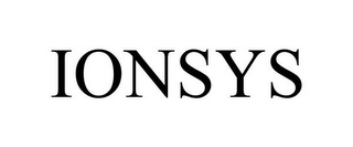 mark for IONSYS, trademark #85726289