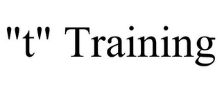 "mark for ""T"" TRAINING, trademark #85726931"