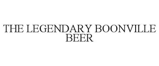 mark for THE LEGENDARY BOONVILLE BEER, trademark #85727016