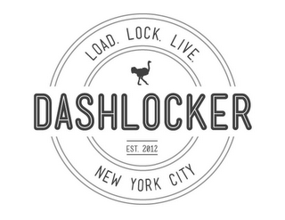 mark for DASHLOCKER LOAD. LOCK. LIVE. EST. 2012 NEW YORK CITY, trademark #85728080
