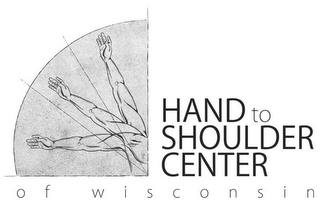mark for HAND TO SHOULDER CENTER OF WISCONSIN, trademark #85728363