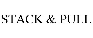 mark for STACK & PULL, trademark #85728400