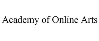 mark for ACADEMY OF ONLINE ARTS, trademark #85728631