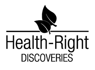mark for HEALTH-RIGHT DISCOVERIES, trademark #85728687
