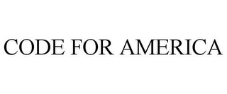 mark for CODE FOR AMERICA, trademark #85728695