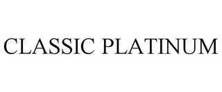 mark for CLASSIC PLATINUM, trademark #85730359