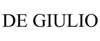 mark for DE GIULIO, trademark #85731069