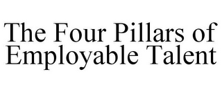 mark for THE FOUR PILLARS OF EMPLOYABLE TALENT, trademark #85731314