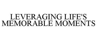 mark for LEVERAGING LIFE'S MEMORABLE MOMENTS, trademark #85731994