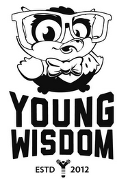 mark for YOUNG WISDOM ESTD 2012, trademark #85732030