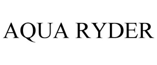 mark for AQUA RYDER, trademark #85732238