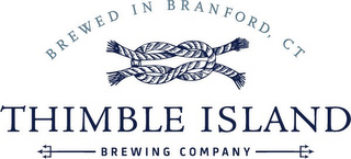 mark for THIMBLE ISLAND BREWING COMPANY BREWED IN BRANFORD, CT, trademark #85733237